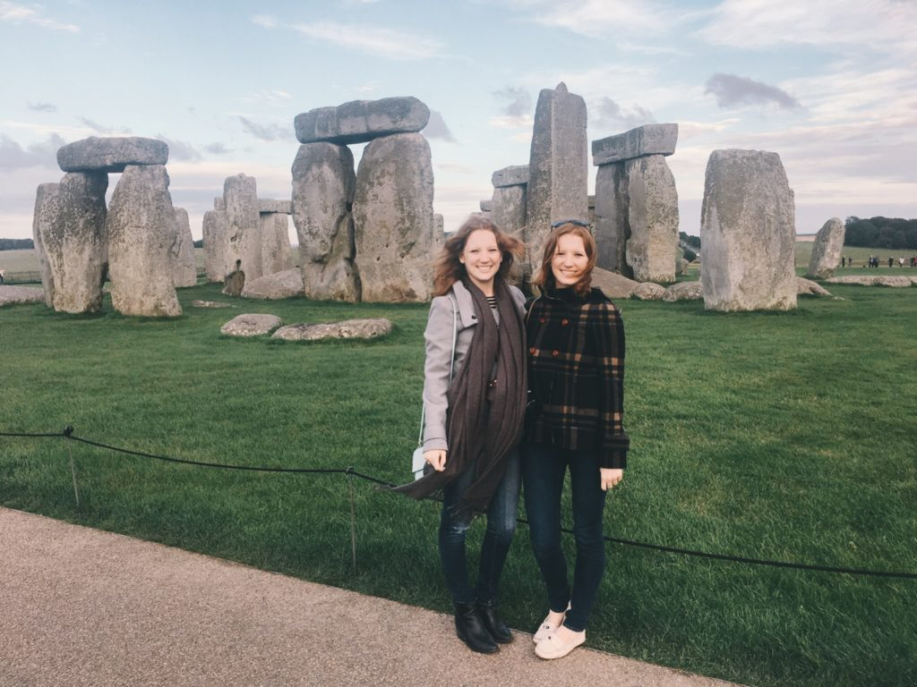 Touristy photo in front of Stonehenge