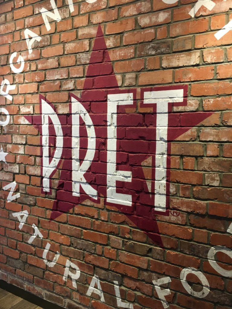 Pret a Manger Wall in London