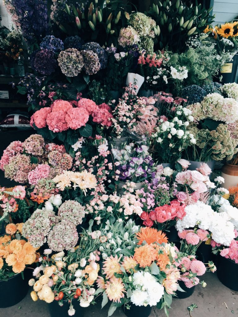 Flower shop in London, England