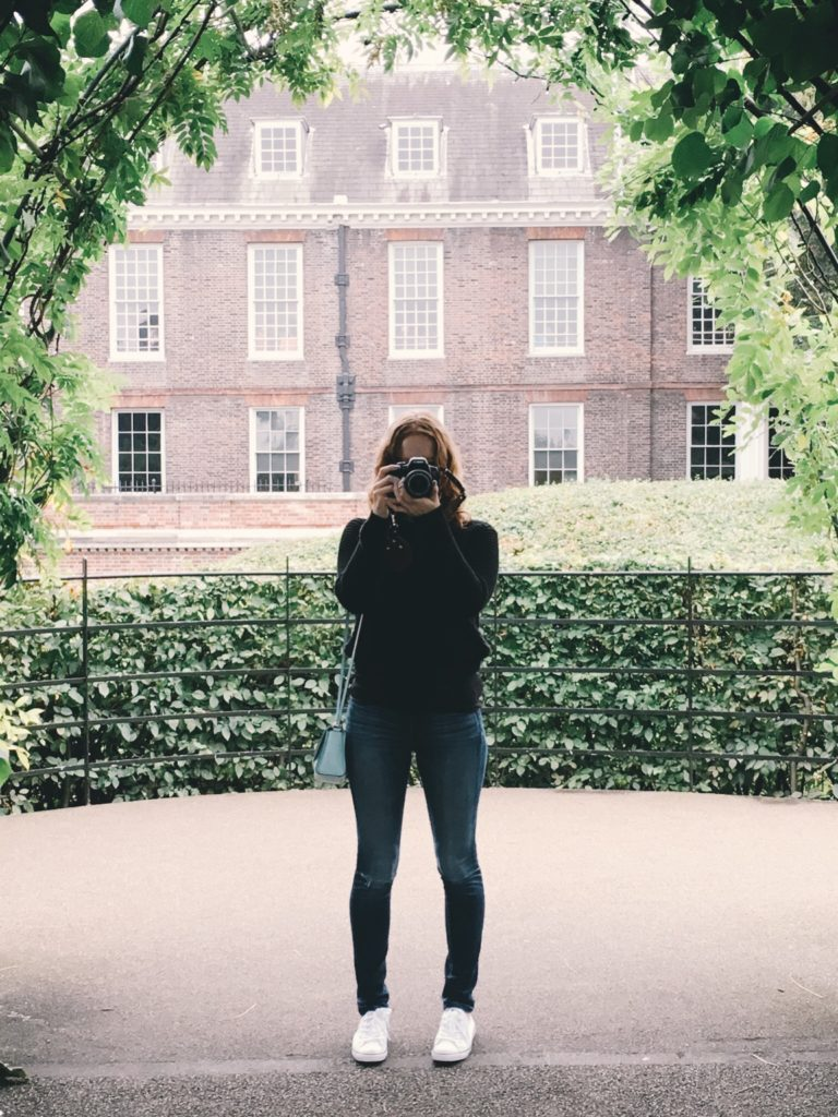Photographer Outside Kensington palace