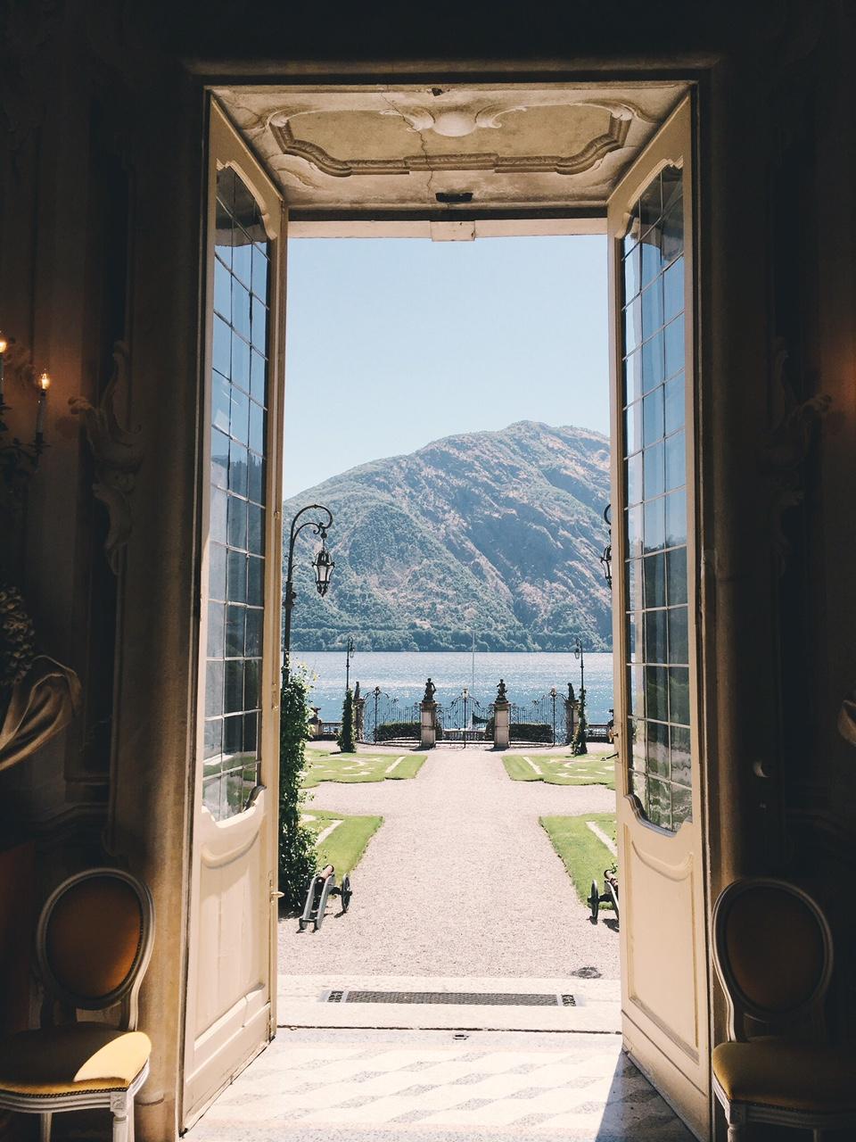 Villa Sola Cabiati view from doors of villa