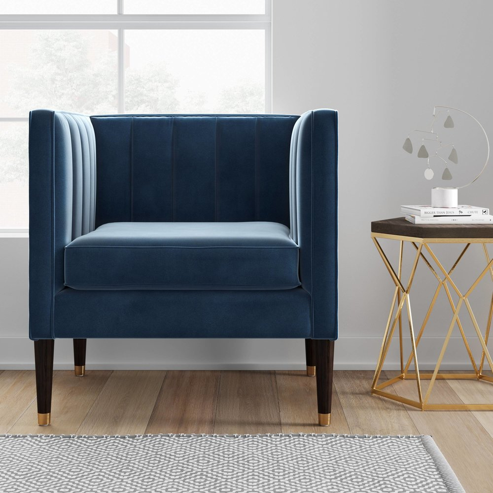 Target Project 62 chair velvet armchair mid century