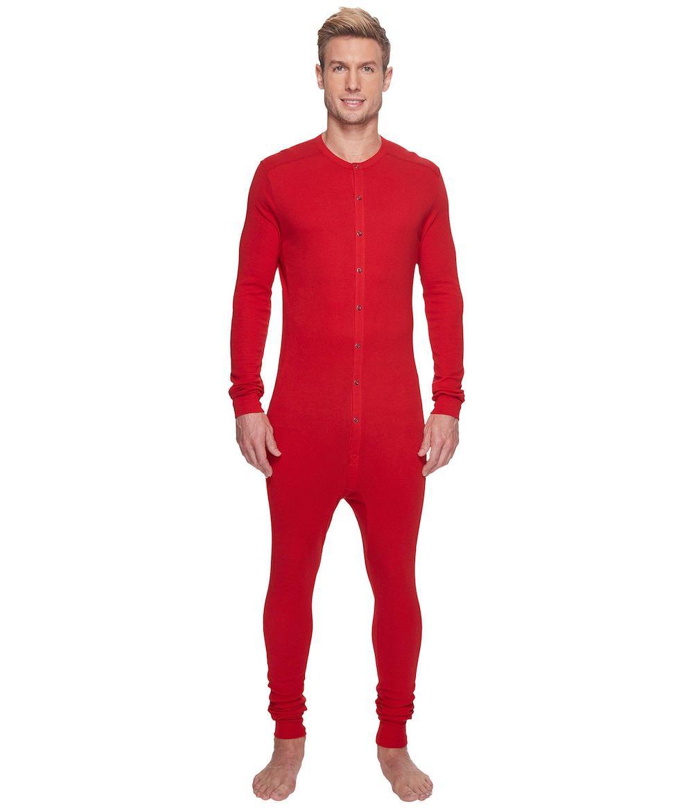 Red onesie for men