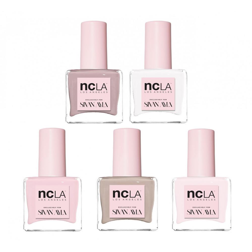 Nude and pink nail polish set