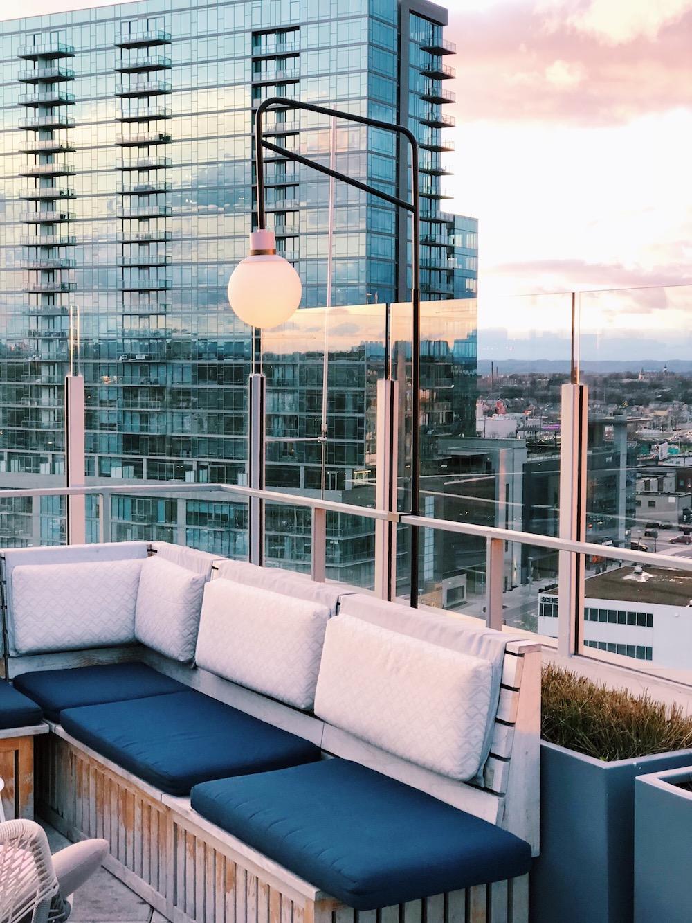 Thompson Nashville rooftop seating