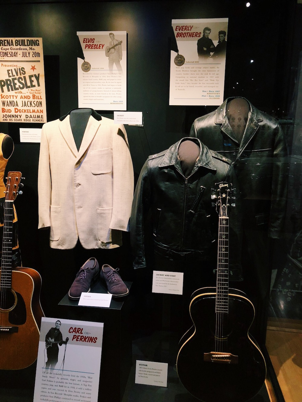 Country Music Hall of Fame Display case