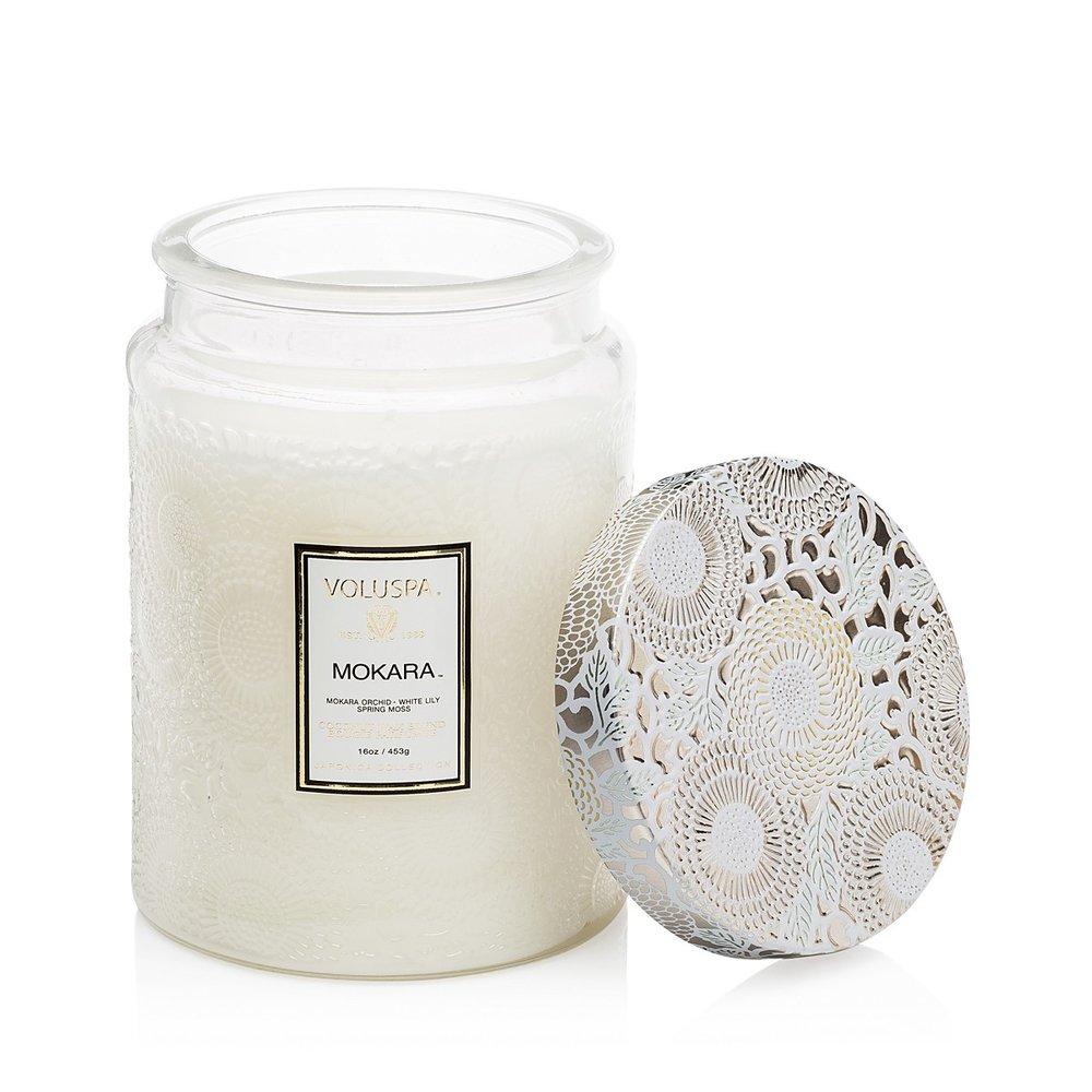 Mokara candle voluspa neutral home decor picks under 150
