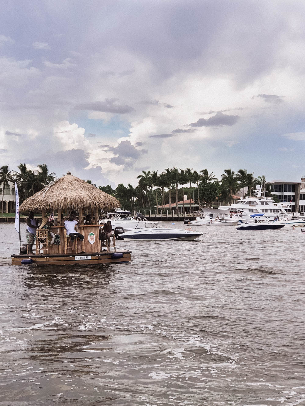 View from Florida water taxi of float bar