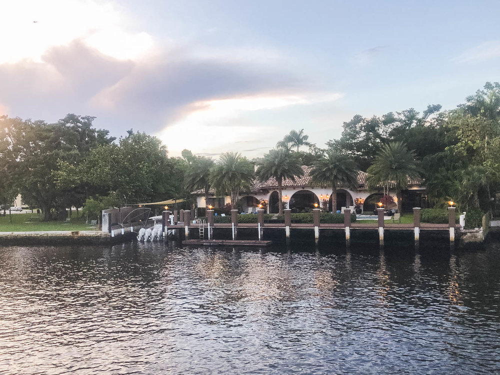 Million dollar house on Ft. Lauderdale waterway