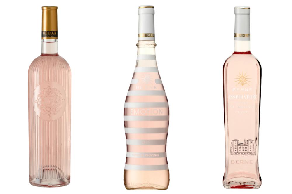 Three varieties of Provence, France rosé