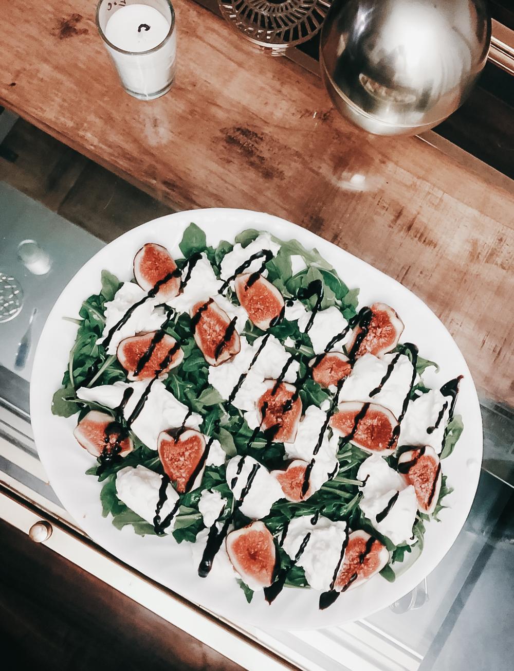 fig and burrata salad perfect summer appetizer snack recipe ideas