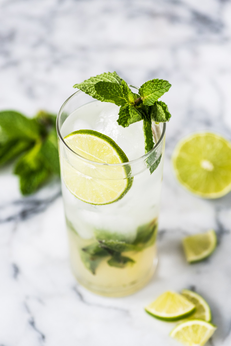 summer cocktail ideas fresh mojito with mint and lime isabel eats