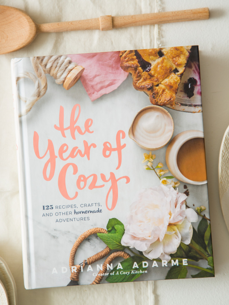 Coffee table book gift ideas The Year of Cozy by Adrianna Adam of A Cozy Kitchen