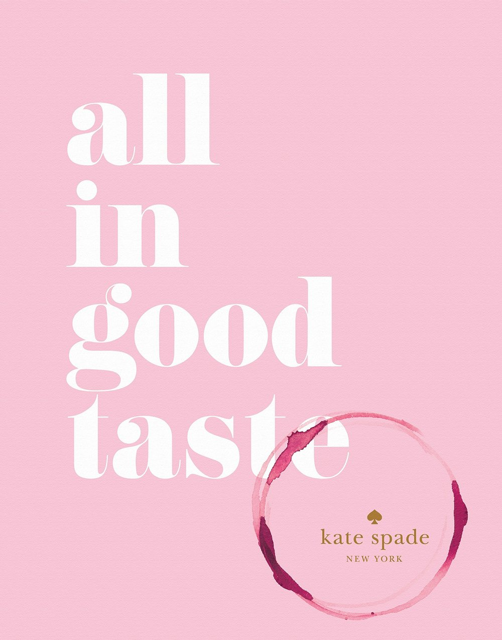 All in Good Taste by Kate Spade New York coffee table book ideas