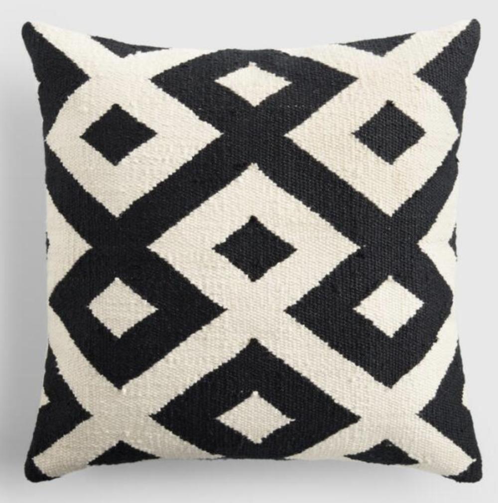"""B&W Geometric"" - Throw Pillow, $29.99; World Market"
