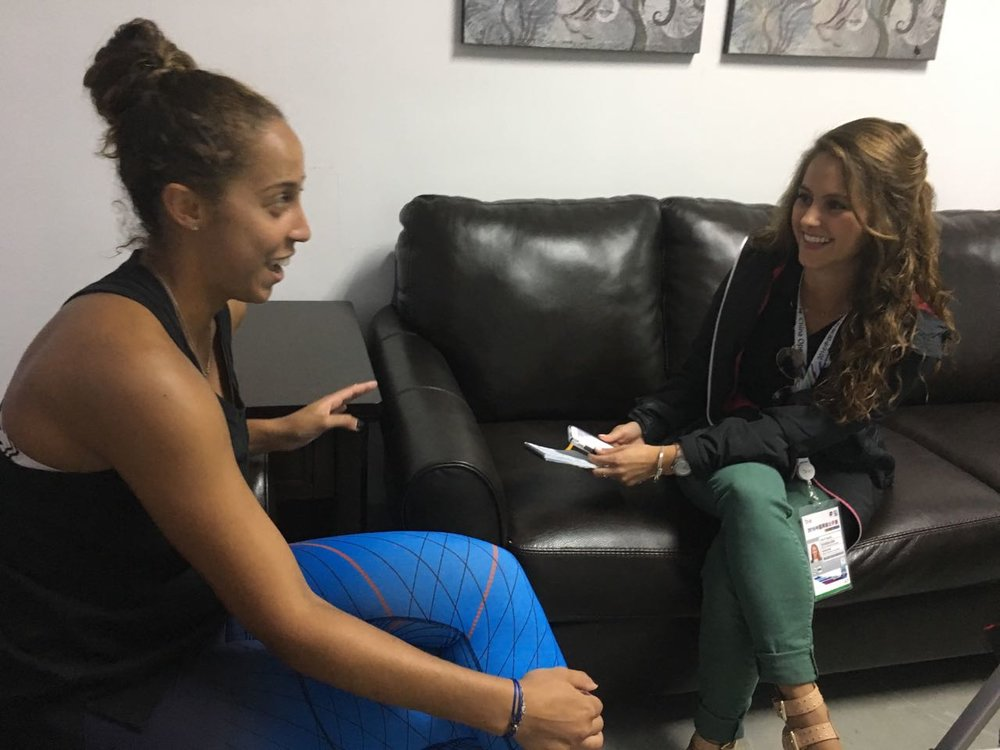 Interviewing Madison Keys the then No. 9 in the world Women's Tennis Association tennis player post-match at the October 2016 China Open in Beijing, China.