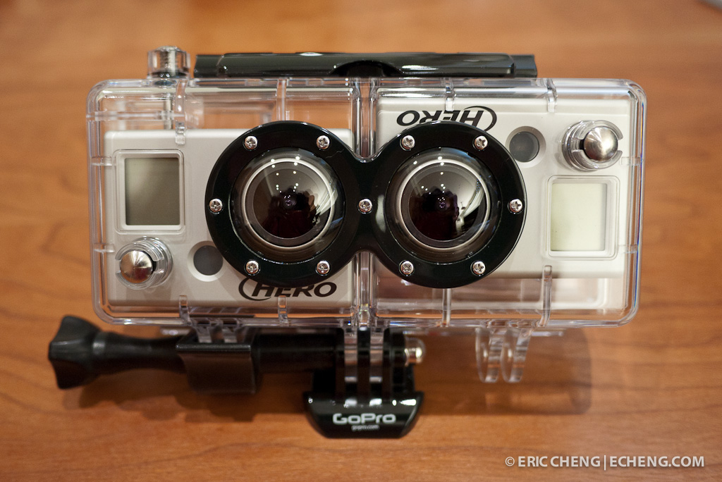 GoPro 3D Hero housing with two GoPro HD HERO cameras installed