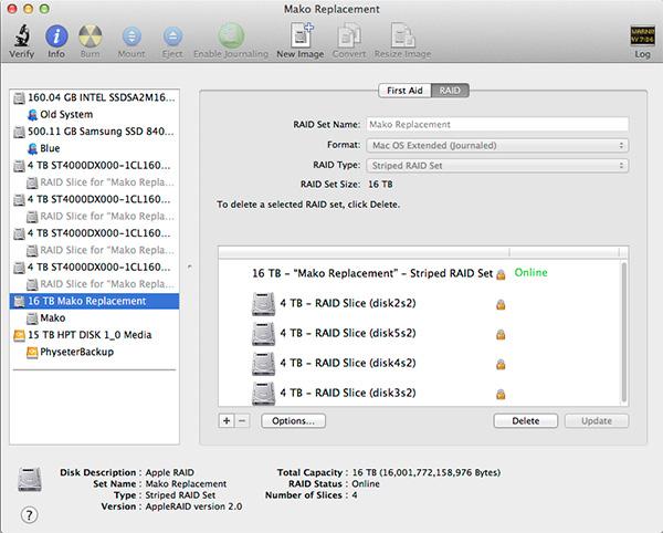 Mac Pro drive configuration