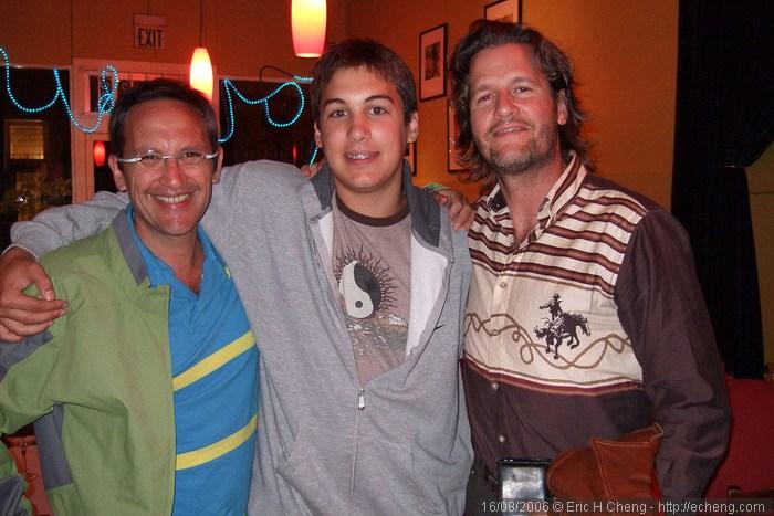 Osvaldo Golijov, Yoni Golijov, Geoff Nuttall in North Beach