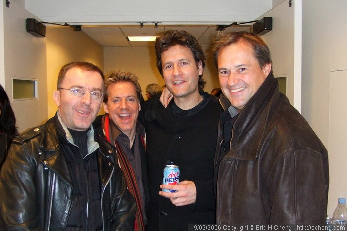 Backstage at Zankel Hall: Pedja Muzijevic, Todd Palmer, Geoff Nuttall, Paul Groves