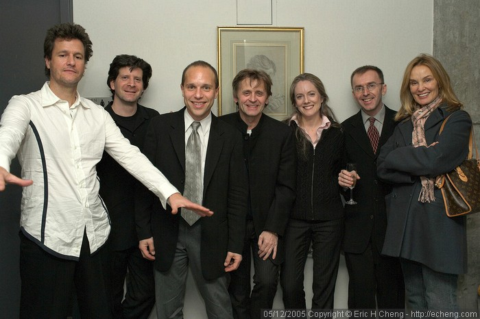 After Movado Hour: Geoff Nuttall, Barry Shiffman, Chris Costanza, Mikhail Baryshnikov, Lesley Robertson, Pedja Muzijevic, Jessica Lange
