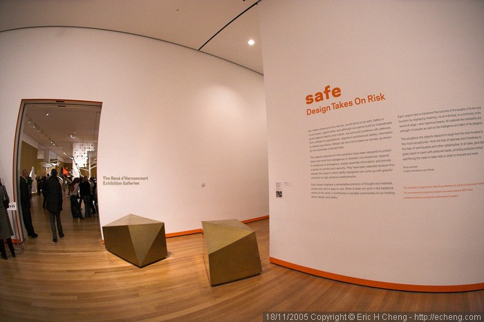 """safe: design takes on risk"" exhibit at the NY MOMA"