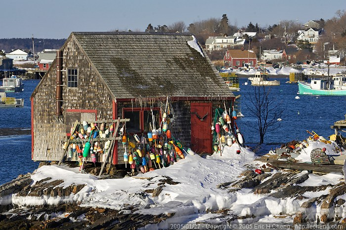 A lobster fishing shack