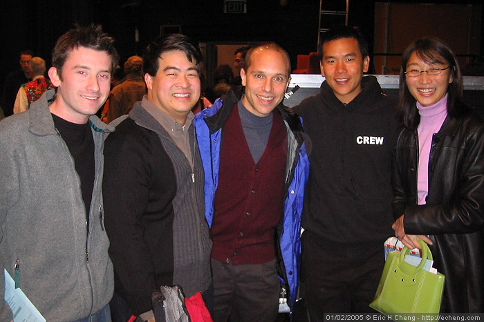 Cellists with Lesley's pediatrician friend: Ilya Levtov, Warren Wu, Chris Costanza, and me