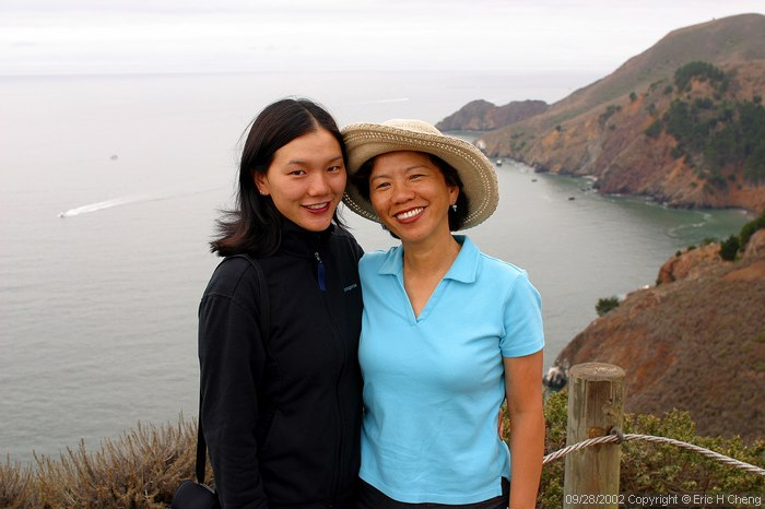 Mom and Wendy, Marin Headlands