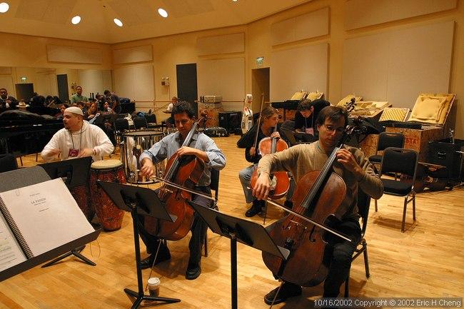 Stephen Harrison, Alberto Parrini, Claire Bryant, rehearsing