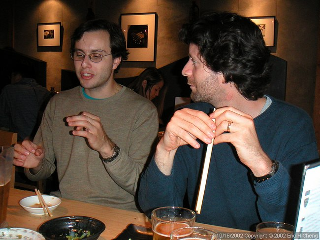 Alberto and Barry, at Oki Doki