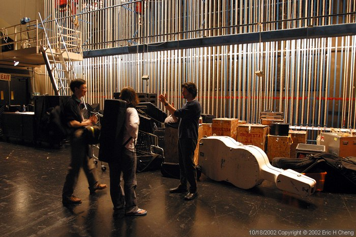 Ben, Andrea and Barry, backstage in Segerstrom Hall