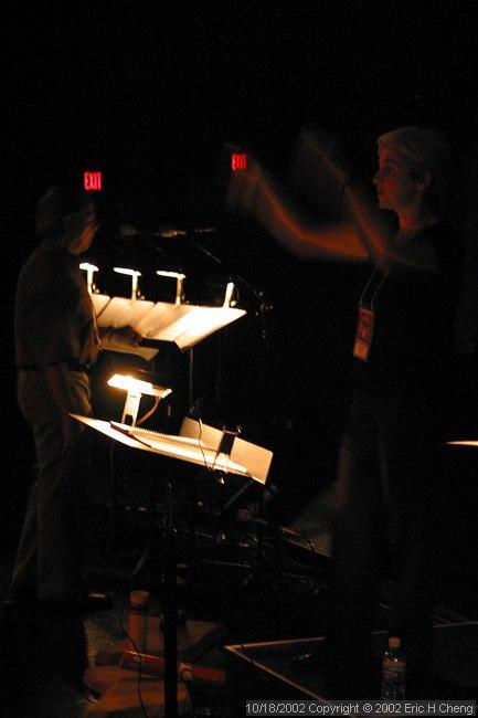 Maria Guinand, conducting (at unlit rehearsal)