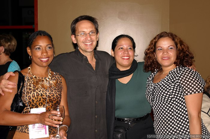 Singers, with Osvaldo Golijov, at the reception