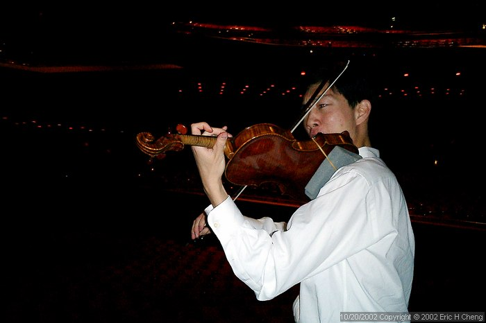 Benjamin plays in Segerstrom Hall