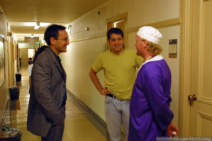 Ozzie, Michael, and Mikael, backstage