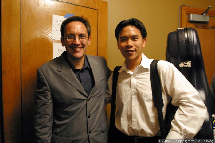 Me, with Osvaldo Golijov