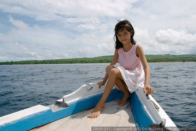 Inka, at the bow of Wakatobi IV