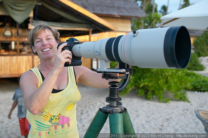 Chris, with a massive 600mm lens!