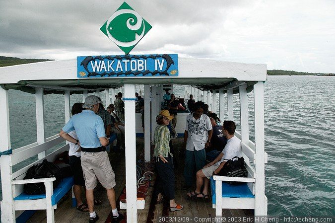 The boat ride to Wakatobi, aboard Wakatobi IV