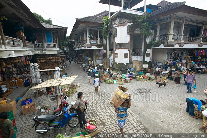 The local market in Ubud