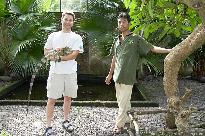Dave, with an iguana