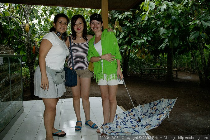 Three woman we met while at the spice farm