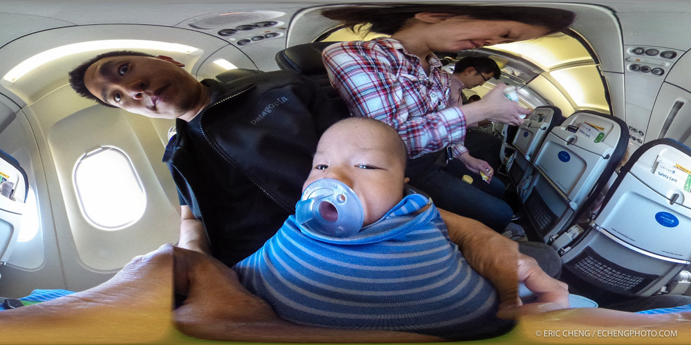 360 cameras do funny things to babies.