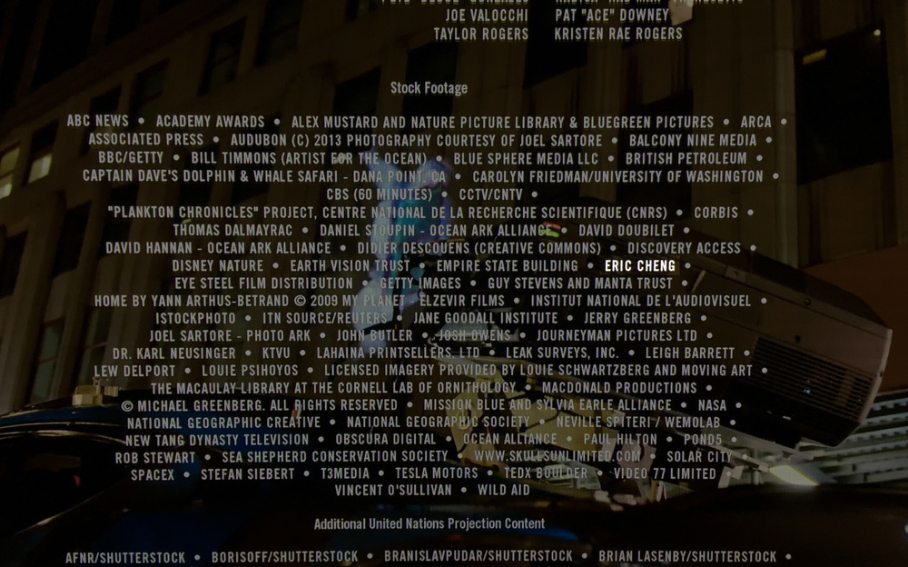 I'm in the credits!