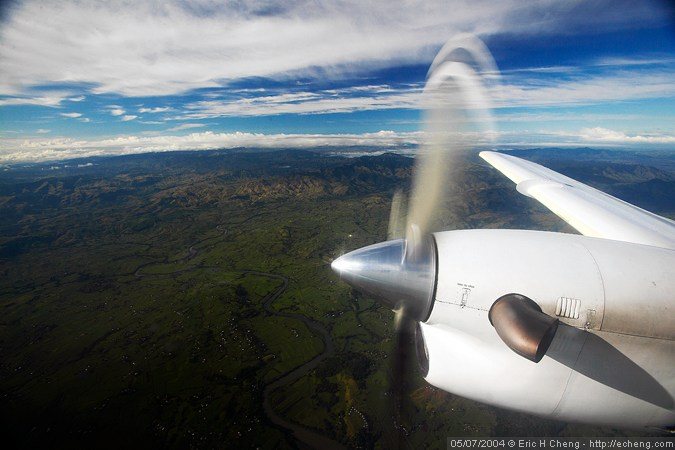 The flight from Nadi to Taveuni