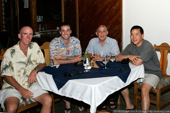 Mike Trussell, James Wiseman, Abbas something, and Eric Cheng at Wananavu Resort