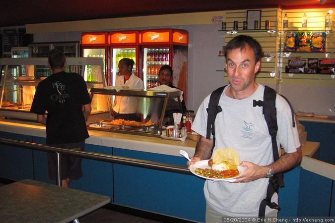 James, at Nadi airport
