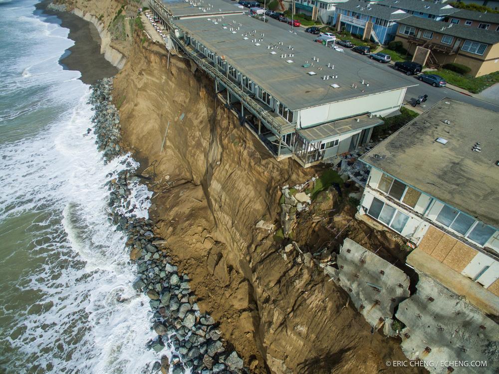 El ni o coastal erosion damage in pacifica california for Pacifica house