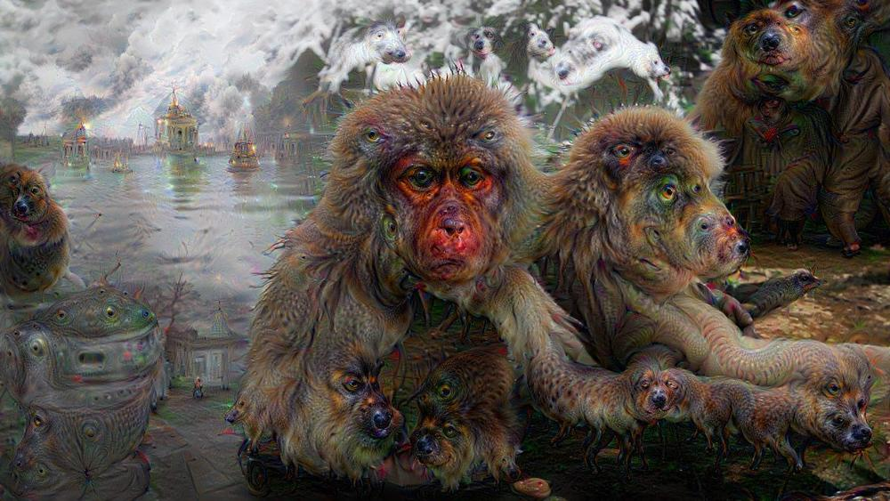 Deep Dreaming with snow monkeys
